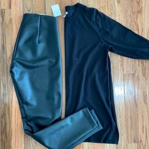 NWT J.Crew black Tunic sweater